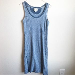 Anthropologie Blue chambray maxi dress, XS